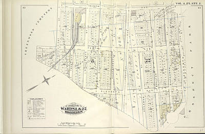 Vol. 4. Plate, I. Map Bound By Ninth Ave., Prospect Park Poster by Litz Collection