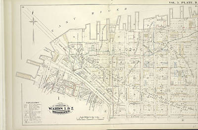 Vol. 5. Plate, B. Map Bound By East River, Bridge St Poster