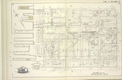 Vol. 5. Plate, E. Map Bound By Pierrepont St., Fulton St Poster