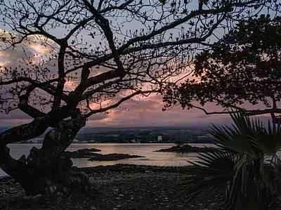 Volcanic Sunset On Hilo Bay - Big Island Poster by Daniel Hagerman