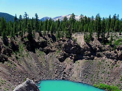 Volcano Lake Poster