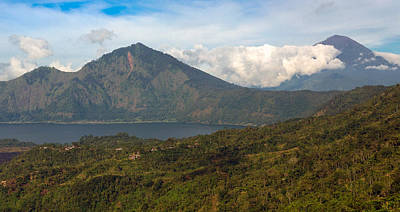 Poster featuring the photograph Volcanoes - Bali by Matthew Onheiber