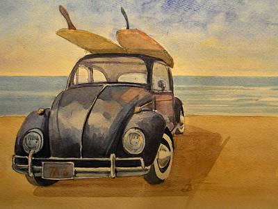 Volkswagen Beetle Poster by Juan  Bosco