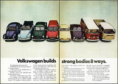 Volkswagen Builds Strong Bodies In 8 Ways Poster