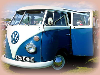 Volkswagen Splitscreen Van Poster by The Creative Minds Art and Photography