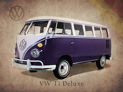 Volkswagen T1 Bus Poster by Mark Rogan