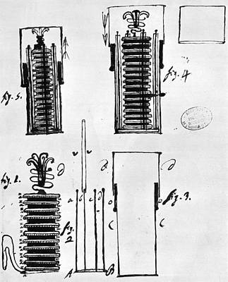 Voltaic Pile, 1801 Poster by Granger