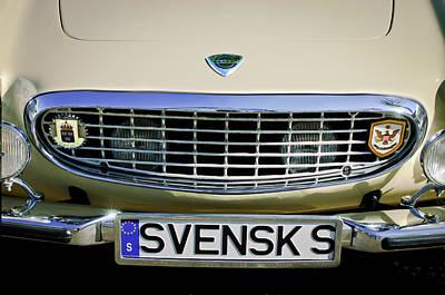 Volvo Grille Emblem -0198c Poster by Jill Reger