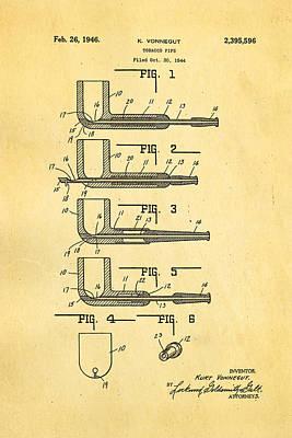 Vonnegut Tobacco Pipe Patent Art 1946 Poster