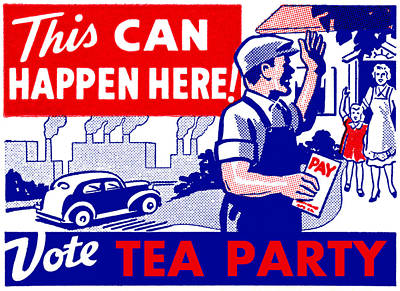 Vote Tea Party Poster by Historic Image