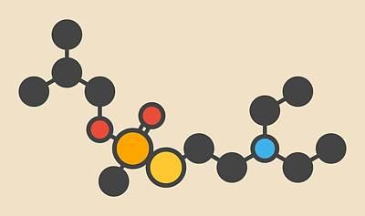 Vr Nerve Agent Molecule Poster