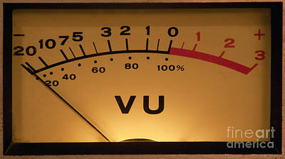 Vu Meter Illuminated Poster