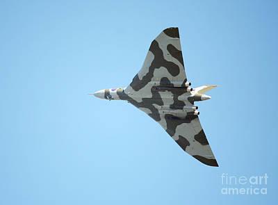 Vulcan Bomber In Flight Poster by Paul Cowan
