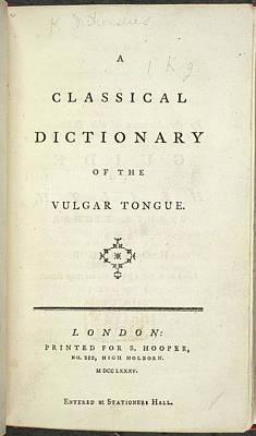 Vulgar Tongue Poster