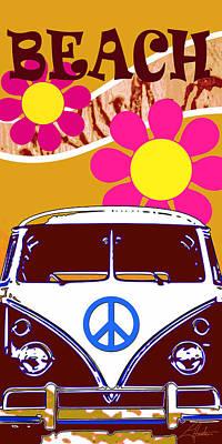 Vw Beach  Tan Poster