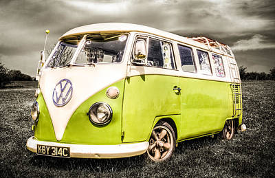 Vw Campervan Poster by Ian Hufton