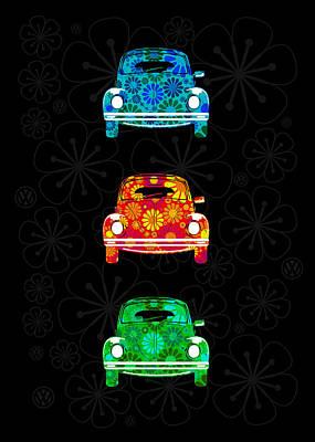 Vw Flower Power Poster by Mark Rogan