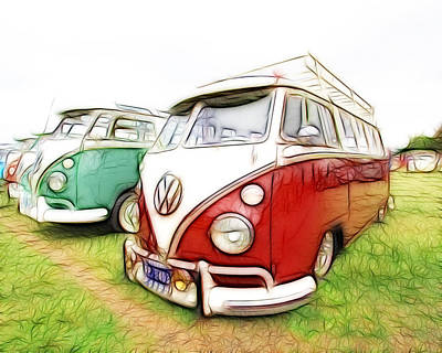 Vw Vans Poster by Steve McKinzie