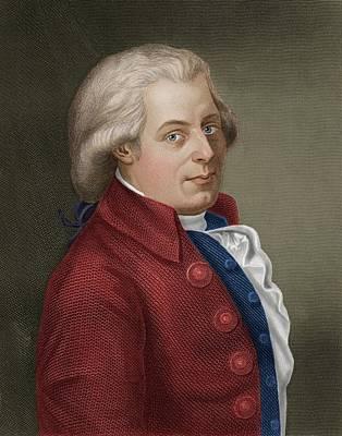 W A Mozart Poster