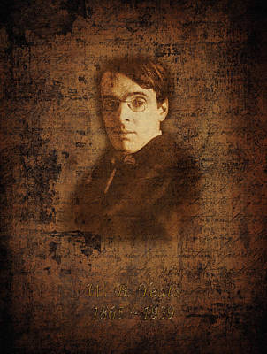 W. B. Yeats Poster by Andrew Fare