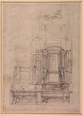 W.26r Design For The Medici Chapel In The Church Of San Lorenzo, Florence Charcoal Poster