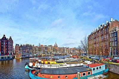 Poster featuring the photograph Waalseilandgracht Amsterdam by Frans Blok