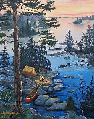 Wabigoon Lake Memories Poster by Sharon Duguay