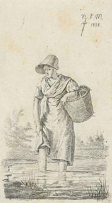 Wading Woman, Anthonie Willem Hendrik Nolthenius De Man Poster