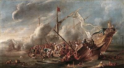 Wael, Cornelis De 1592 - 1667. Naval Poster by Everett