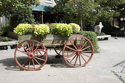 wagon of flowers on Julian Street Poster