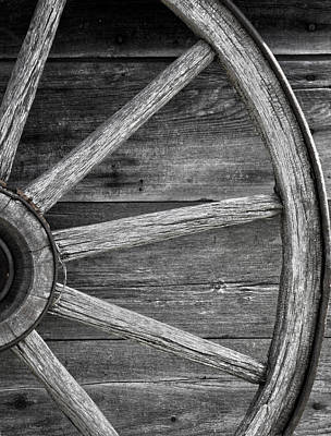 Wagon Wheel  Poster by Empty Wall