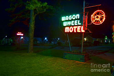 Poster featuring the photograph Wagon Wheel Motel by Utopia Concepts