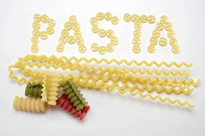 Wagon Wheel Pasta (the Word 'pasta), Fusilli Lunghi, Riccioli Poster