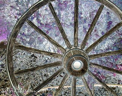 Wagon Wheel Study 1 Poster by Sylvia Thornton