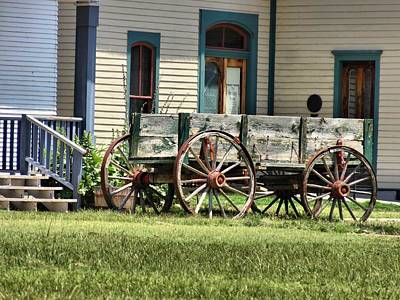 Wagon Wheels In Dodge City Poster
