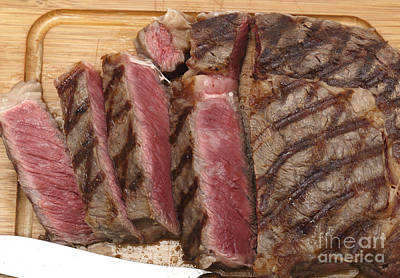 Wagyu Steak Cut On Board Poster by Paul Cowan