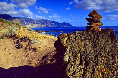 Poster featuring the photograph Waianae Mountain Range From Kaena Point by Aloha Art