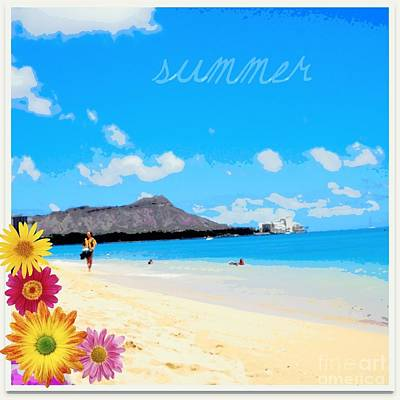 Poster featuring the photograph Waikiki Beach by Mindy Bench