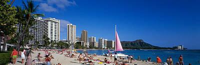 Waikiki Beach Oahu Island Hi Usa Poster by Panoramic Images