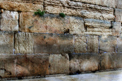 Poster featuring the photograph Wailing Wall In Israel by Doc Braham