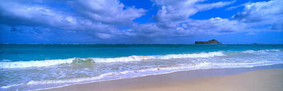 Waimanalo Beach Park Manana Island Oahu Poster by Panoramic Images