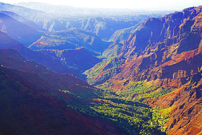 Waimea Canyon Morning Light Poster