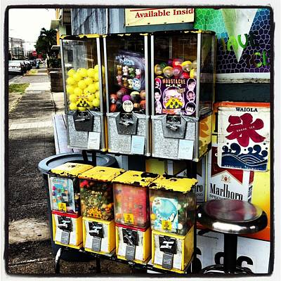 Waiola Shaved Ice Gumball Machines Poster by Gary Smith