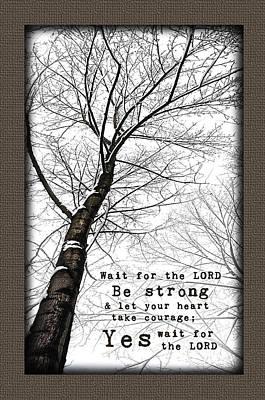 Wait On The Lord Winter Tree Poster by Alissa  Skoczelak