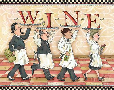 Waiters Wine Poster by Shari Warren