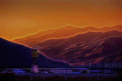 Palm Springs Sunset Poster by Jay Hooker