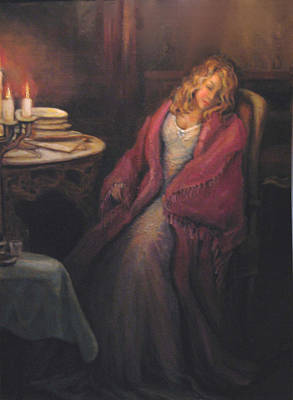 Poster featuring the painting Waiting by Donna Tucker