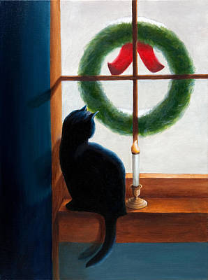 Waiting For Christmas Poster by Phillip Compton