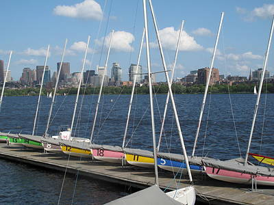 Waiting For Sailors On The Charles Poster