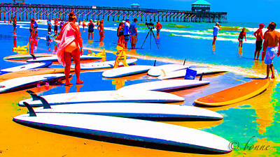 Waiting For Surf Poster by Bonnes Eyes Fine Art Photography